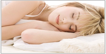bright closeup picture of sleeping teenage girl