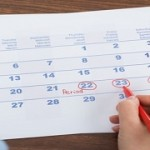 Person Marking On Calendar